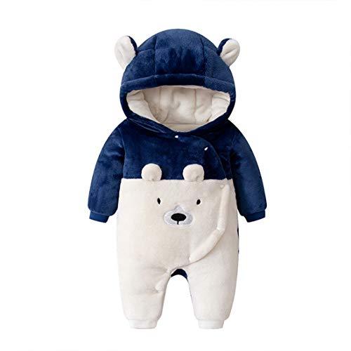 Verve Jelly Baby Schneeanzüge Winter Fleece Overall mit Kapuze Mädchen Jungen Strampler Footed Jumpsuit Onesies Winter Outwear Outfits