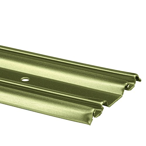 Prime-Line Products N 6880 by-Pass Mirror Door Bottom Track, 60 in, Roll-Formed Steel, Champagne Gold Finish