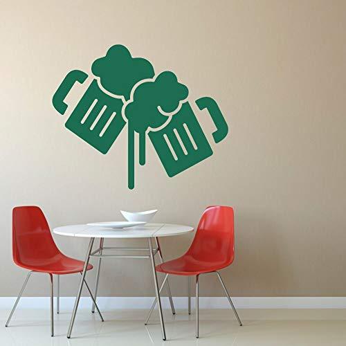 wZUN Bierglas Toastschaum abnehmbare Bar Wandkunst Dekoration 57x48cm