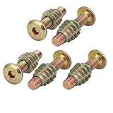 NA 5 Piezas de Empalme M6 x 30 mm Hex Socket Drive Perno w Tuerca de inserción de Madera