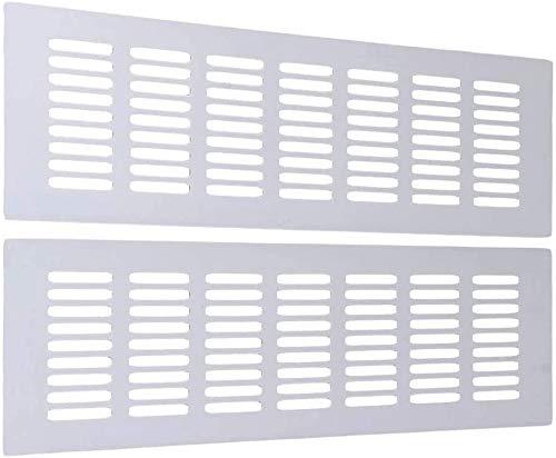 solawill Rejilla de Ventilacion, 2 Piezas Rejilla de ventilación rectangular 300 x 80 mm Rejillas de ventilación de aluminio Anti-insectos para Ventilación de Armarios y Dormitorios