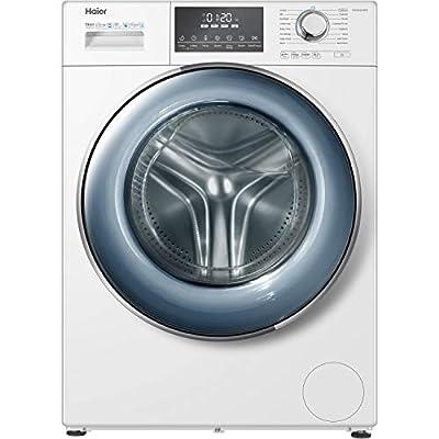 Haier HW100-B14876 Freestanding Washing Machine, Anti-Bacterial Direct Motion, 1400 RPM, 10kg Load, White