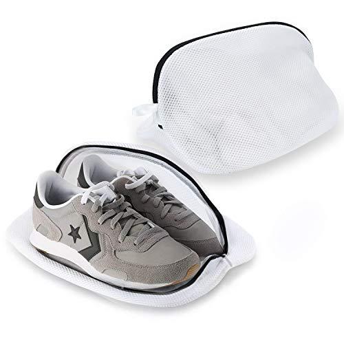 Yizhet Schoenen Wasnet met rits Premium wasnet waszak voor sneakers, wit (2 stuks voor schoenen)