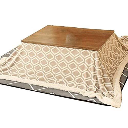 AILI Japanischer Kotatsu-Tisch mit Heizung und Decke Massivholzplatz groß für Wohnzimmer Winter