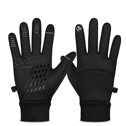 Guanti invernali da ciclismo con schermo touch, regolabili, antivento, antiscivolo, per corsa, bicicletta, sci, escursionismo, caccia, campeggio