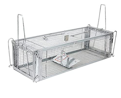 SZHXH Human Live Rat Rat Raton Traps No Kill Automatic Lock Double Puerta Captura y liberación for Exteriores y en el Interior