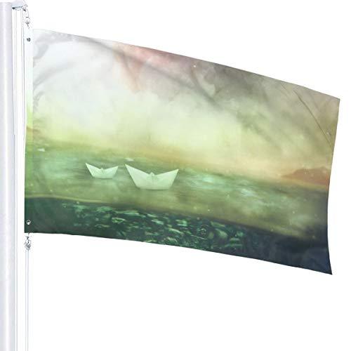 N/A Papieren Boten Vlag Premium Polyester Decoratie Vlag 5ft x 3ft