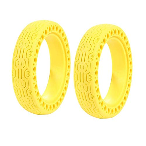 Purchase YLWSDDD Rubber Tyre for M365 Electric Scooter Accessories Solid Hollow Tires Shock Absorber...