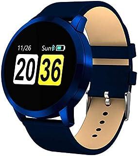 L.TSA Pulsera Deportiva Inteligente esfigmomanómetro de frecuencia cardíaca monitoreo de Pulsera Deportiva para Hombres Pantalla Inteligente en Color Reloj de Pulsera de Acero