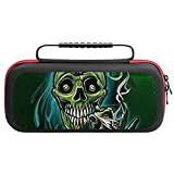 Marijuana Weed Leaf Skull Nintendo Switch Carry Case Hard Shell Cover with 20 Games Cartridges Pouch Inner Storage Bag Nintendo Switch Console & Accessories