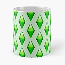Plumbob Sims 4 3 - White -coffee Mug- Unique Birthday Gift-the Best Gift For Holidays- 11 Oz.