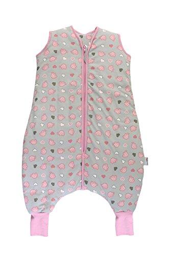 Schlummersack slaapzak met voeten, voor de winter, warm gevoerd, in 3,5 tog, verkrijgbaar in verschillende maten en designs, voor jongens en meisjes 120 cm Olifanten roze