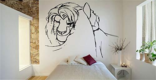 autocollant mural Roi Lion Decal Vinyle Wall Decal Autocollant Décor Nursery Roi Lion Simba Nala Cartoon Nursery vinyle décalque