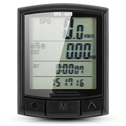 Velocímetro de Bicicleta Bicicleta Computadora de Ciclismo Velocímetro de Bicicleta Odómetro MTB...