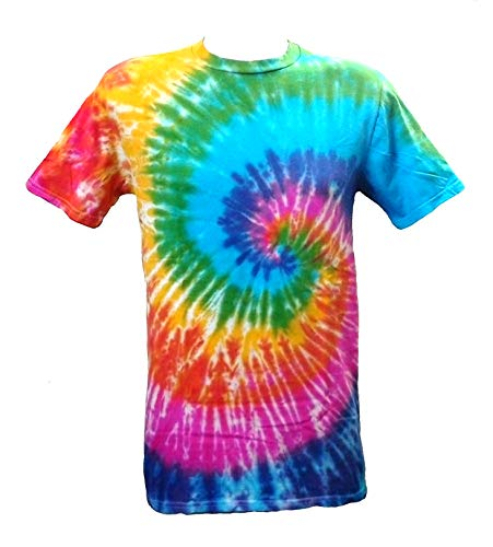 Tie Dye Acid House Spiral Herren T-Shirt XL