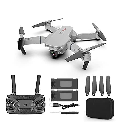 GZTYLQQ Drone con videocamera HD 720P per Adulti e Bambini, quadricottero Pieghevole con Video Live FPV grandangolare Grigio-2