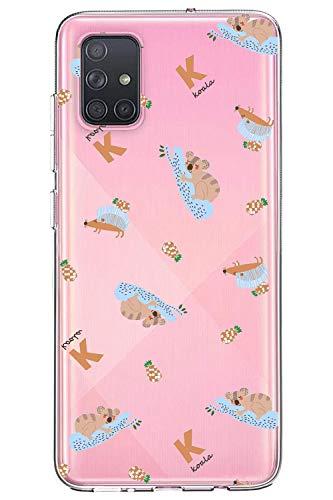 Oihxse Compatible con Samsung Galaxy J5 Funda Cristal Silicona TPU Suave Ultra-Delgado Protector Estuche Creativa Patrón Protector Anti-Choque Carcasa Cover(Pereza A7)