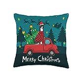 Italian Greyhound truck Christmas Italian Greyhound Christmas Dog Truck Funny Xmas Gift Throw Pillow, 16x16, Multicolor