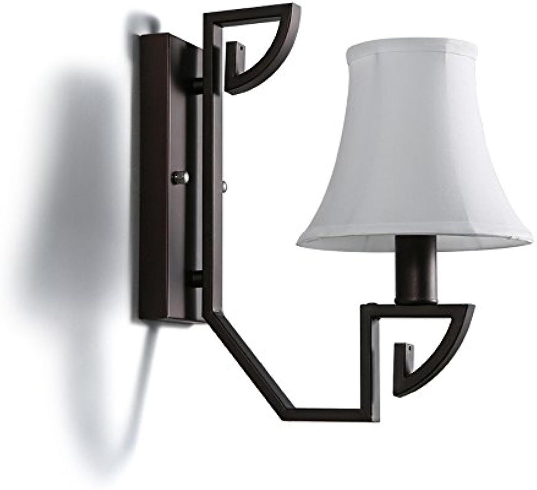American Iron Wandleuchten, Postmodern schwarz LED Stoff Dekorative Beleuchtung Wandbehang Lampe Wohnzimmer Cafe Esstisch Wandleuchte Vintage Study Schlafzimmer Wandleuchte (B)