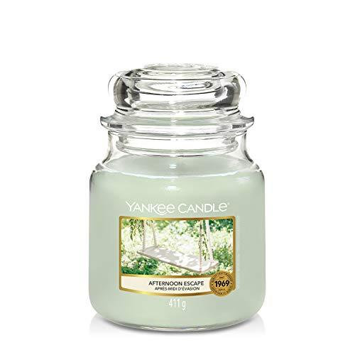 Yankee Candle Candela Profumata in Giara Media, Fuga Pomeridiana, Durata Fino A 75 Ore, Collezione Garden Hideaway