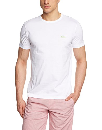 BOSS Herren Tee Regular Fit T-Shirt, Weiß (White 100), X-Large