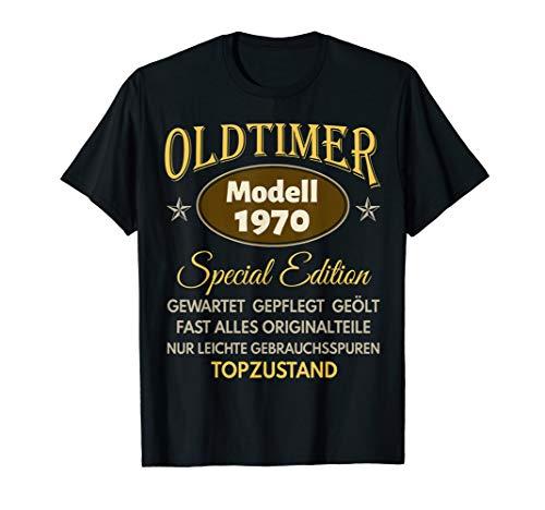 50. Geburtstag Mann Frau Geschenk Oldtimer Jahrgang 1970 T-Shirt