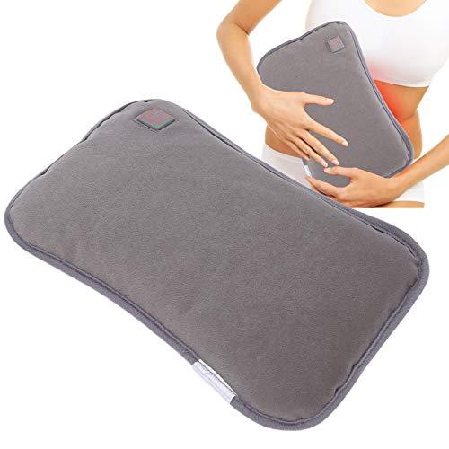Calentadores de manos recargables, Calentador de manos Impermeable Almohada calefactora eléctrica USB Plug-In Handwarmer Pocket Pouch para el invierno(gris)