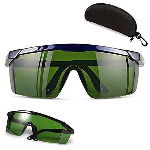 Gafas protectoras con luz pulsada, gafas protectoras, gafas de seguridad, gafas de seguridad, gafas para protección láser de belleza para grabador láser para quitar el cabello IPL
