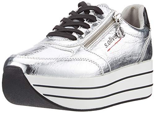 s.Oliver Damen 5-5-23641-34 Sneaker, Silber (Silver Crackle 945), 40 EU