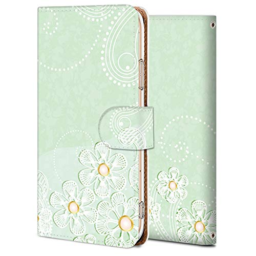 iitrust Galaxy A41 SC-41A Case Folio Stand Function with Card Holder PU Leather Cherry Blossom 2 SC41A-Y01-AY14