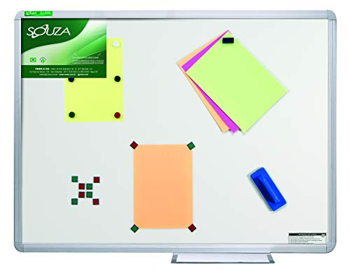 Quadro Branco Luxo Magnético, 70cm X 50cm, Mold. Alumínio Luxo - Souza & Cia (Ref: 5302)