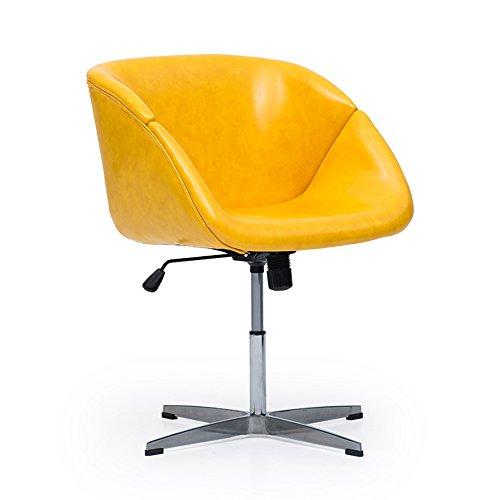 MEIDUO Durable Selles La chaise de bureau pivotante peut être augmentée et a abaissé la couleur facultative de rotation pour intérieur extérieur (Couleur : Le jaune)