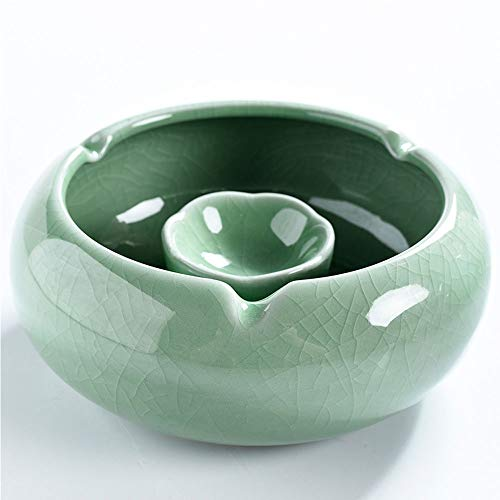 BHB-AY Chinese traditionele porseleinen asbak - eenvoudige en stijlvolle persoonlijkheid, de asbak op de woonkamer, eettafel, nachtkastje is gemakkelijk schoon te maken
