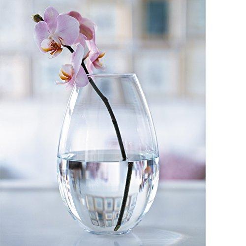 Holmegaard Cocoon Vase, Glas, durchsichtig, 20,5 cm
