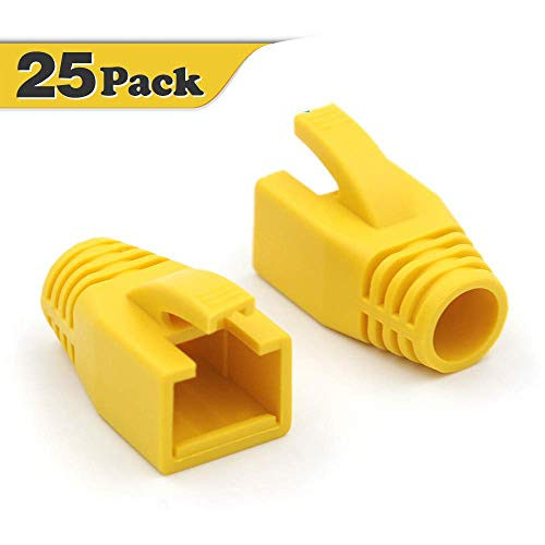 VCE 25 stuks CAT7 netwerkstekker RJ45 laarzen kappen alleen pak voor rj45 stekker geel
