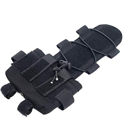 NorCWulT Casco de la batería Bolsa de Accesorios Contrapeso Caso Equilibrio Peso de la Bolsa de la Noche de Airsoft Universal Negro