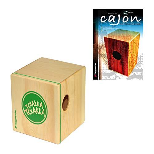 Voggenreiter Cajon Set, 4-tlg, Volt KazooJon Würfel, Eine Kiste Voller Rhythmus, Lernbuch, Trommelkiste, Trommel