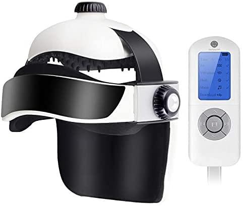 Monkon - Massaggiatore per la testa, elettrico, massaggiatore per le cuffie elettrico, massaggiatore per agopressione con massaggiatore di calore, massaggiatore per la pressione dell'aria, vibrazione