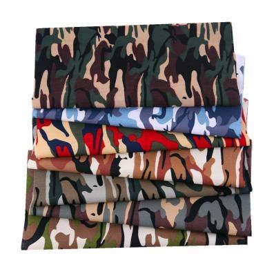 DIY Stoff Camouflage 49 x 49 cm 7 verschiedene Muster Patchwork Stoff Handwerk Gedruckt Baumwolle Material Gemischte Quadrate Bündel Quilten Scrapbooking Nähen Kunsthandwerk