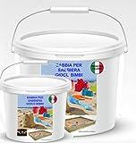 Arena de juego para niños de 25 kg. En práctico cubo de color gris o blanco, ideal también para acuarios y animales (arena gris, 8 kg)