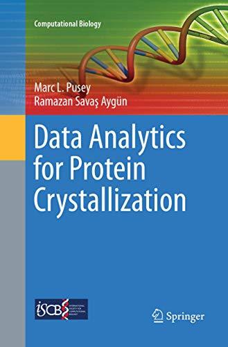 Data Analytics for Protein Crystallization (Computational Biology)