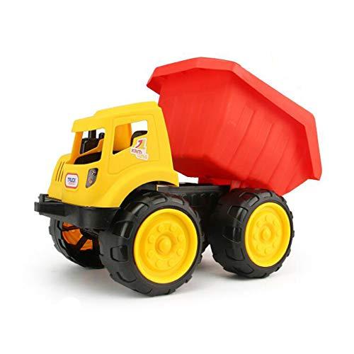 Siyushop Camion à Benne basculante en Jaune et Rouge, Jouets de Voiture à Friction, Voitures de Construction Push and Go, Jouets éducatifs pour Tout-Petits pour Enfants âgés de 2 à 8 Ans