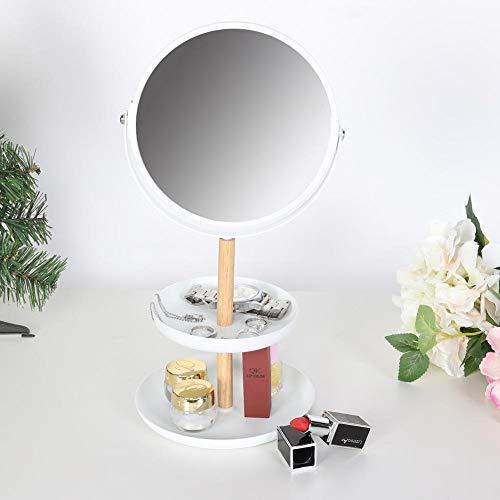 Grote desktop sieraden dienblad dubbel aantrekkelijk DIY make-up organizer sieradendoos met spiegel bureau plank rek sieraden dienblad
