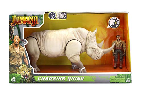 Jumanji - Animal with Figure - Charging Rhino Style