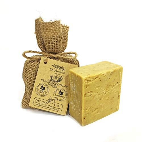 Organisch Natuurlijk Vegan Traditioneel Handgemaakt Antiek Zwarte Zaad Zeep - effectief voor acne - Geen Chemicaliën, Pure Natuurlijke Zeep!