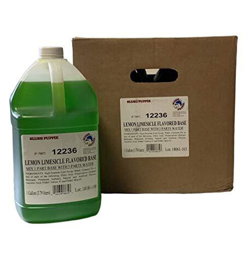 Slush Puppie Lemon Lime Flavored Case Gallon 4 Base 1 security low-pricing