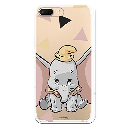 Funda para iPhone 7 Plus - iPhone 8 Plus Oficial de Dumbo Dumbo Silueta Transparente para Proteger tu móvil. Carcasa para Apple de Silicona Flexible con Licencia Oficial de Disney.