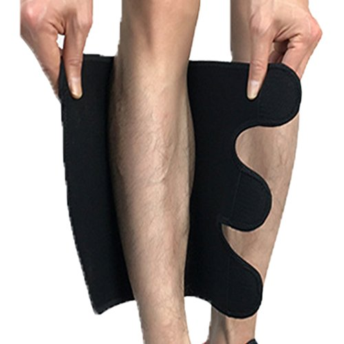 Compression Calf Brace Pads (1 Pair) for Hiking, Training, Footless Calve Sleeves Shin Pads for Men and Women