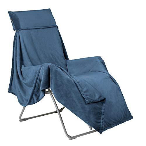 LAFUMA MOBILIER Fleece-Decke FLOCON, Für LAFUMA Relax Liegestühle, 180x170 cm, Farbe: Fjord, LFM5040-9283