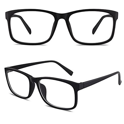 CGID CN12 Casual Fashion Basic Square Frame Clear Lens Eye Glasses,Matte...